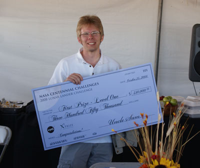 Carmack and his $350k check
