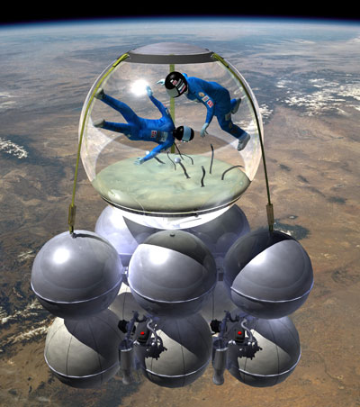 Armadillo suborbital vehicle illus.